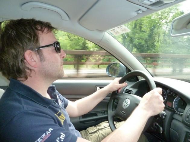 Jeroen Keep achter het stuur