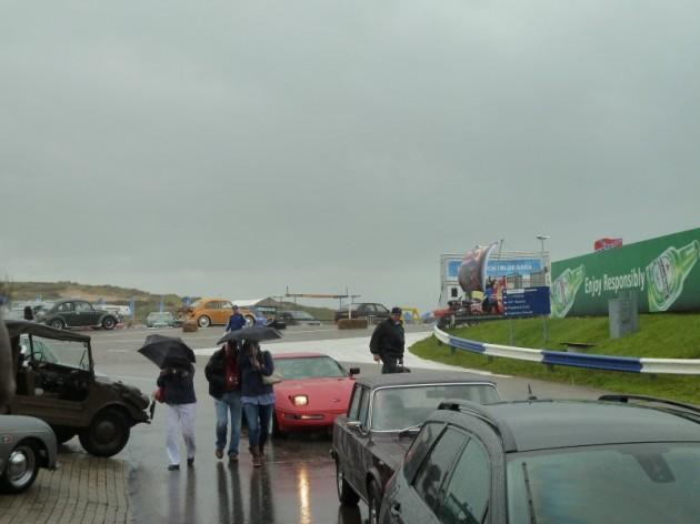 Regen in Zandvoort