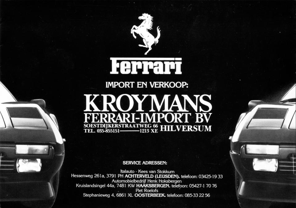 Uit de oude doos: Kroymans Ferrari folder